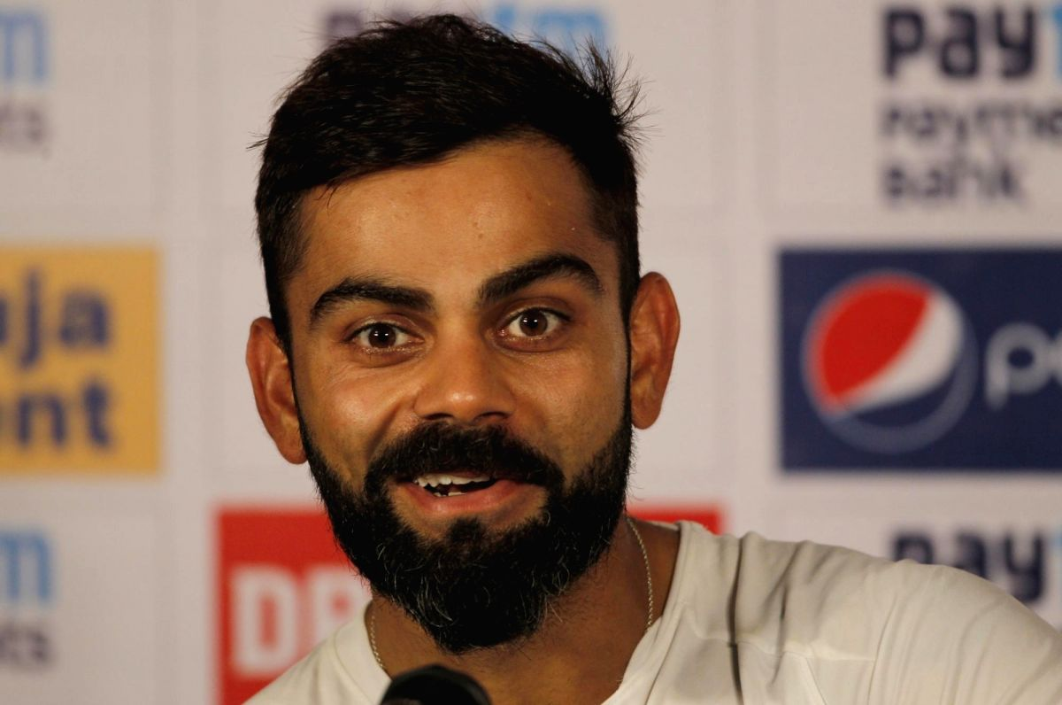 Pune: Indian skipper Virat Kohli addresses a press conference ahead of the 2nd Test match between India and South Africa, at Maharashtra Cricket Association Stadium in Pune, on Oct 9, 2019. (Photo: Surjeet Yadav /IANS)