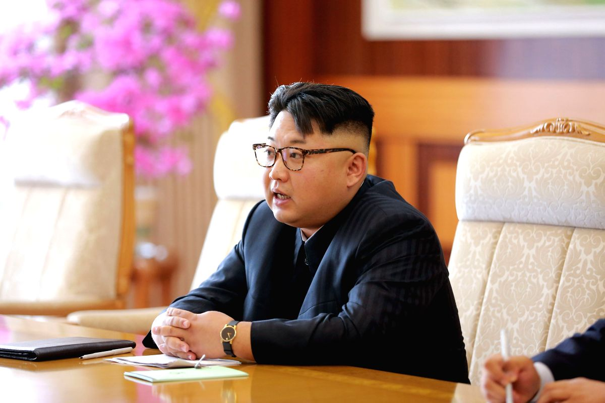 PYONGYANG, July 1, 2016 - Photo provided by the Korean Central News Agency (KCNA) on July 1, 2016 shows top leader of the Democratic People's Republic of Korea (DPRK) Kim Jong Un meeting with head of ...