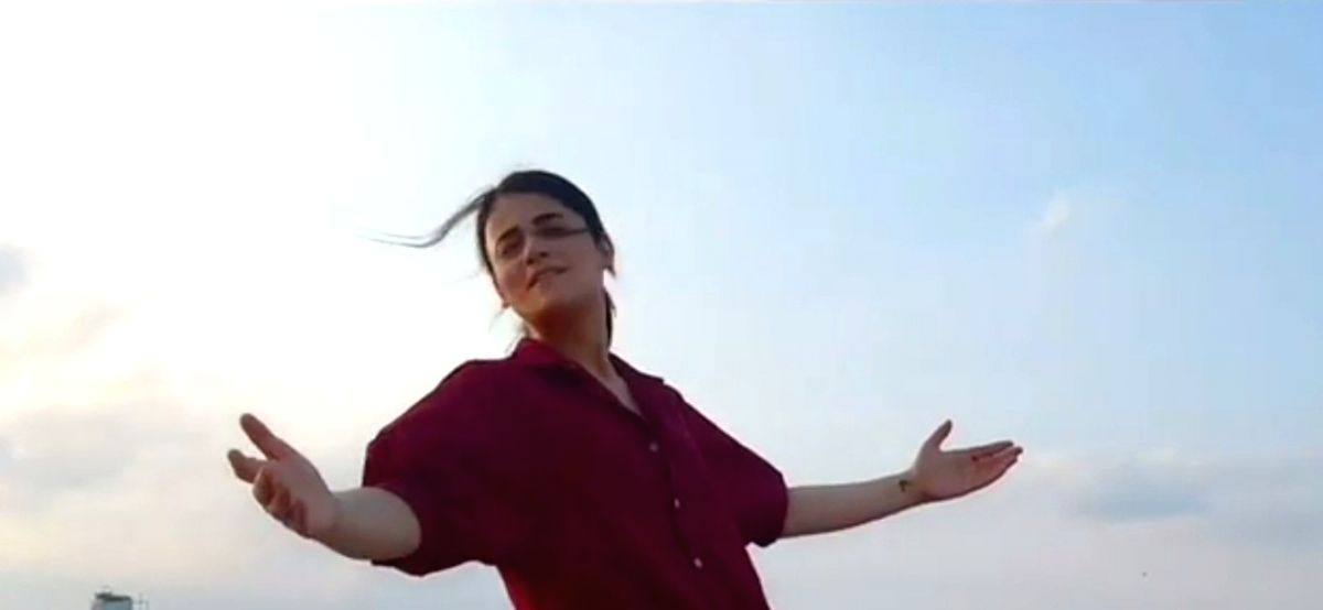Radhika Madan gets into 'Binod' meme frenzy.