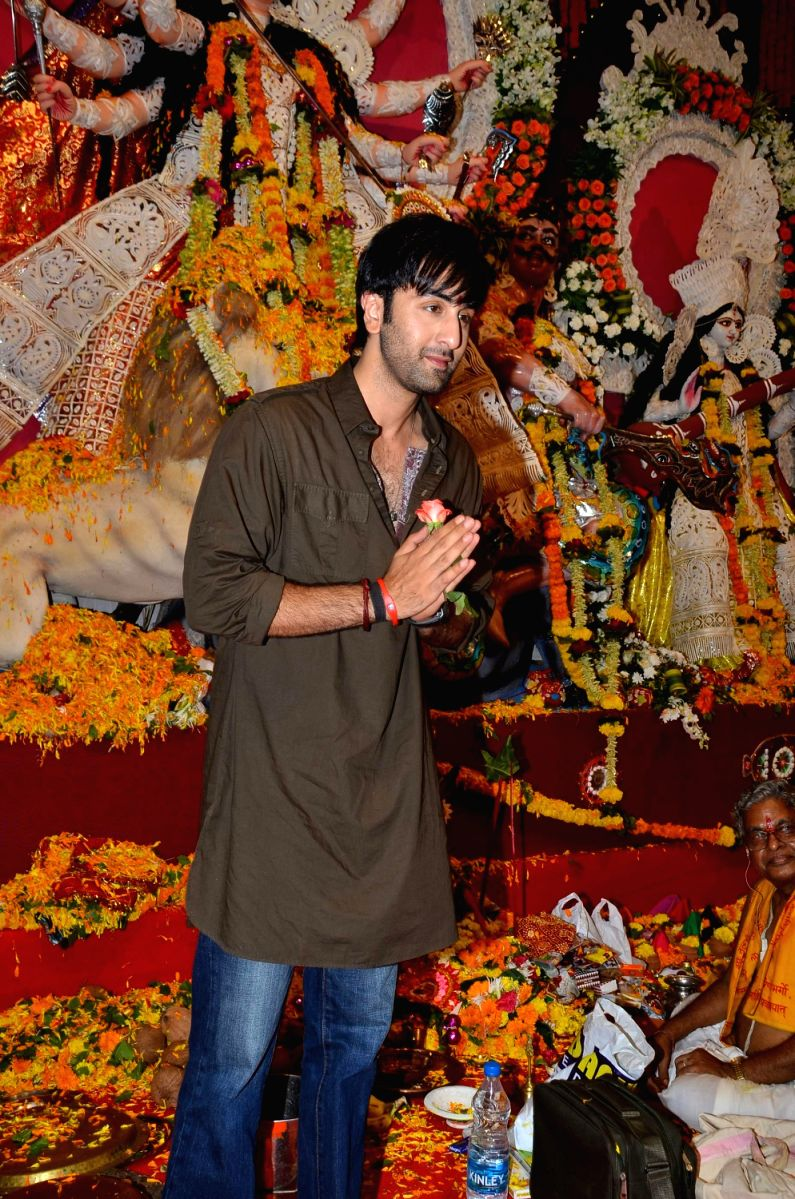 The Besharam Lad made his presence felt at the Puja