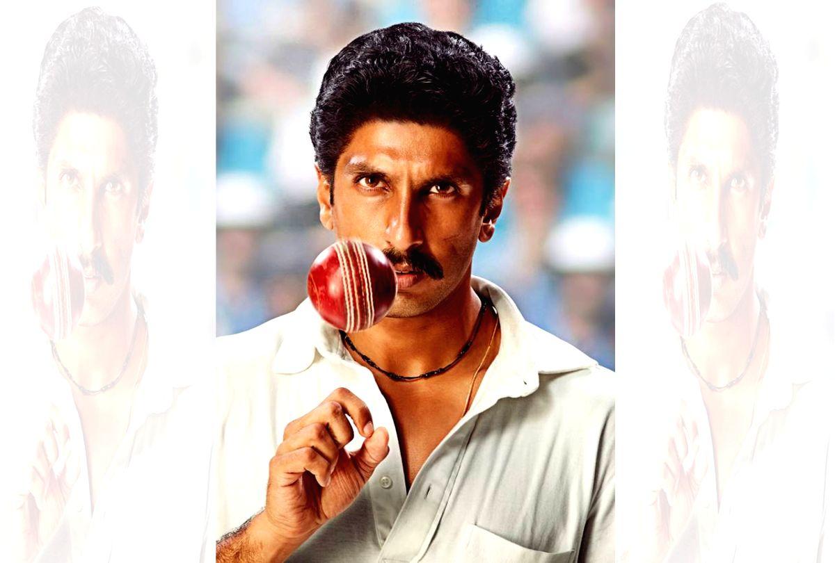 """Ranveer Singh's first look as Kapil Dev from his upcoming film """"83""""."""