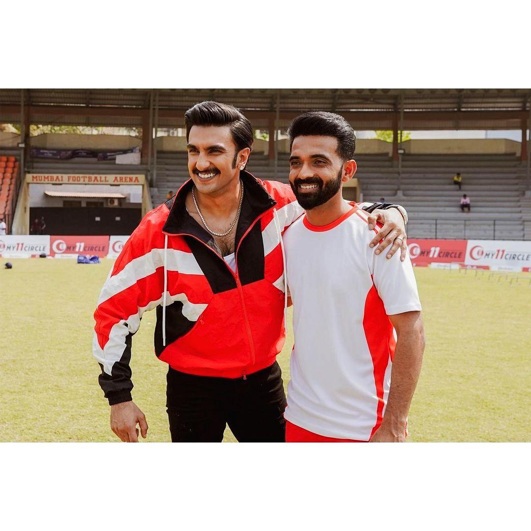 Ranveer Singh wishes 'champ' Ajinkya Rahane for IPL 2021.(Photo:Instagram)