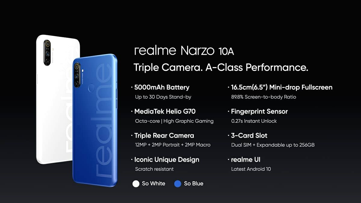 Realme Narzo 10, Narzo 10A launched in India, price starts Rs 8,499.