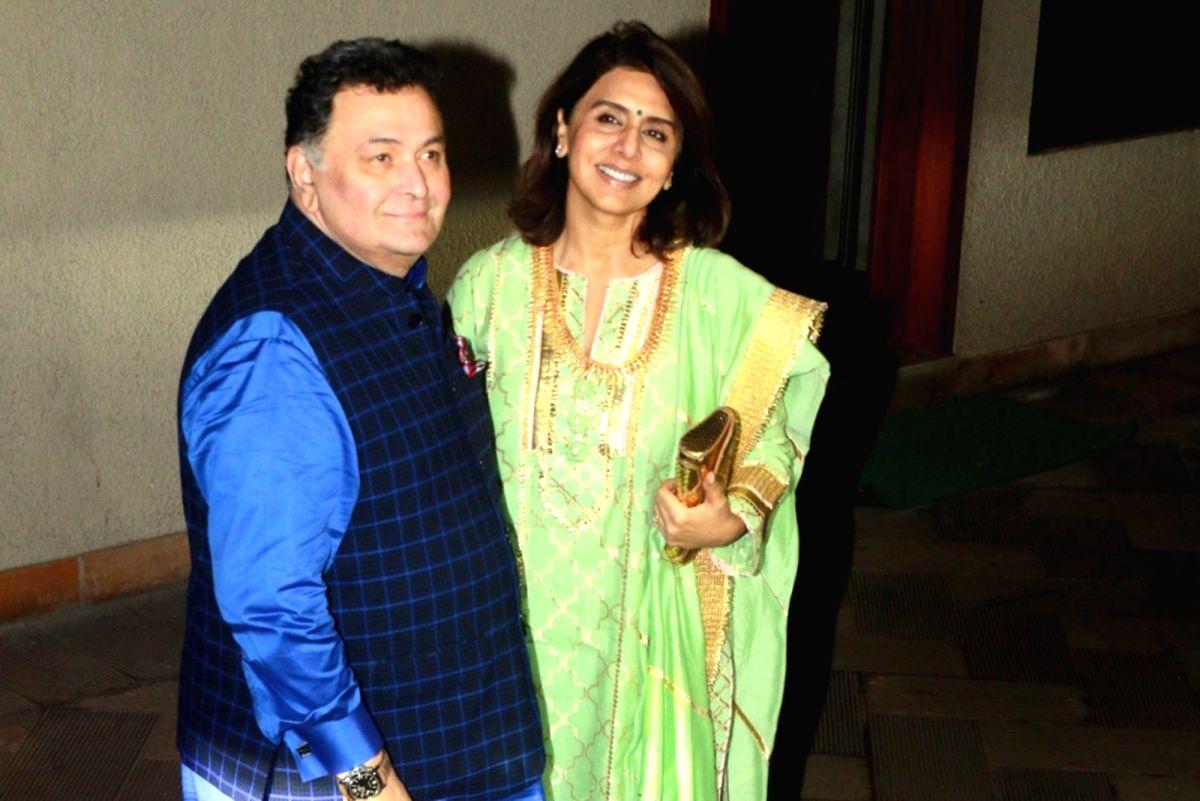 Rishi Kapoor and his wife Neetu Kapoor.