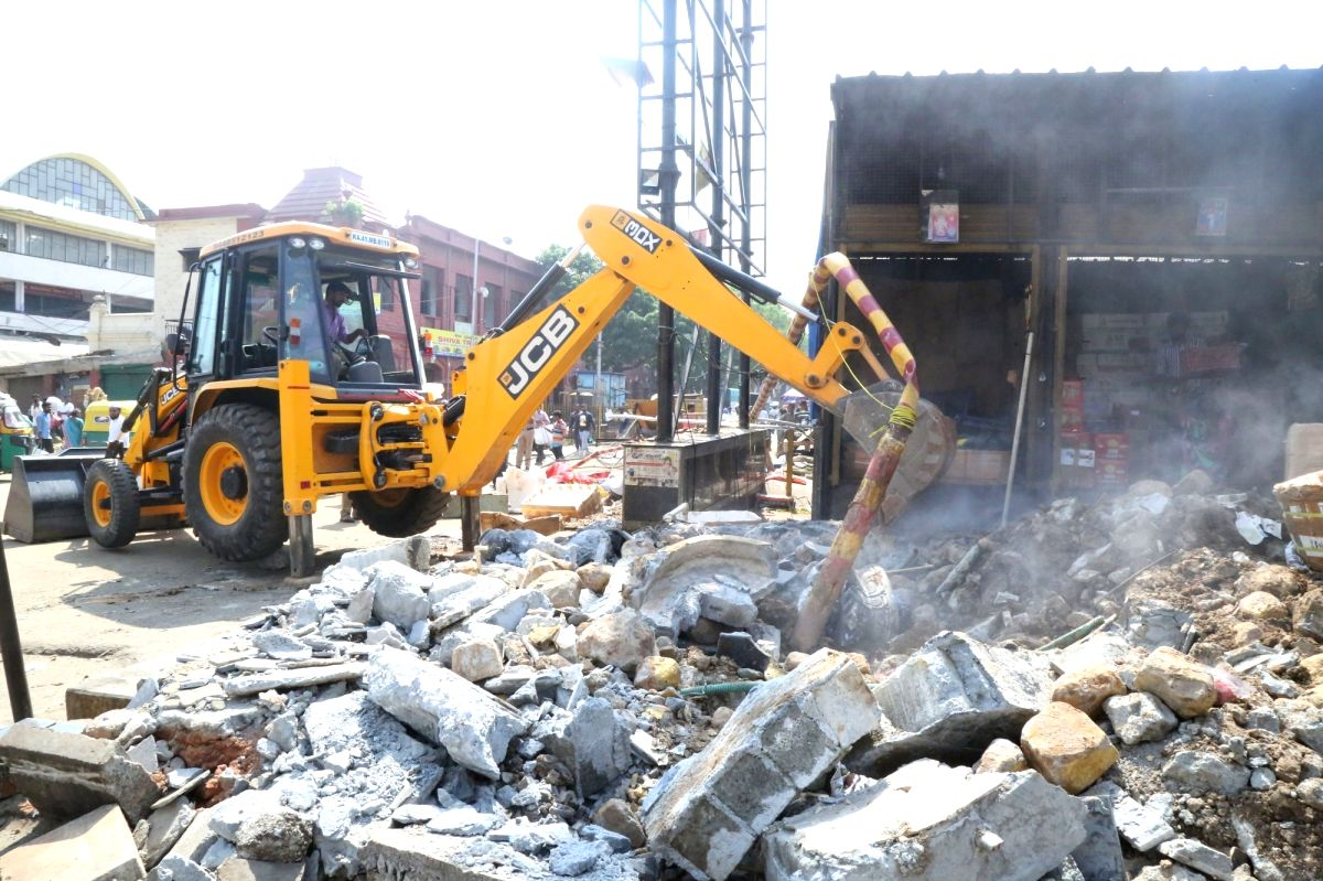 Road network in illegal colony razed during demolition drive.