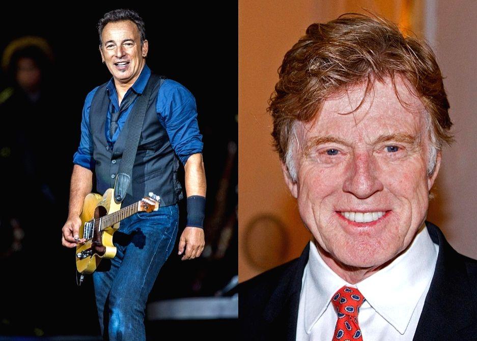 Robert Redford, Bruce Springsteen.(photo:wikipedia)