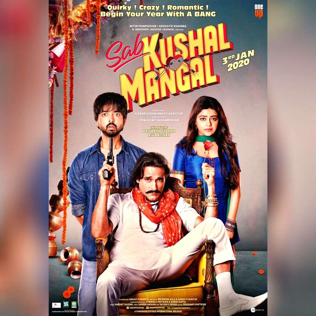 """Sab Kushal Mangal"""", starring Akshaye Khanna will hit the screens in January next year. The movie slated to release on January, 3 will star debutant actors Priyaank Sharma and Riva Kishan, son of actress Padmini Kolhapure, and daughter of actor Ravi K"""