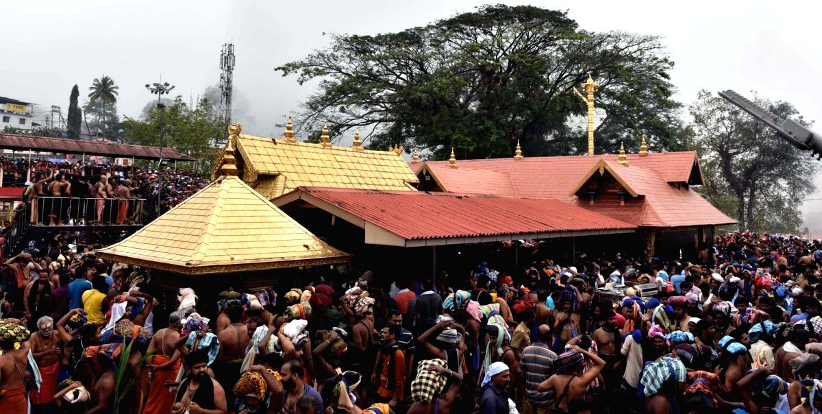 Sabarimala: A view of crowded Ayyappa Temple in Sabarimala