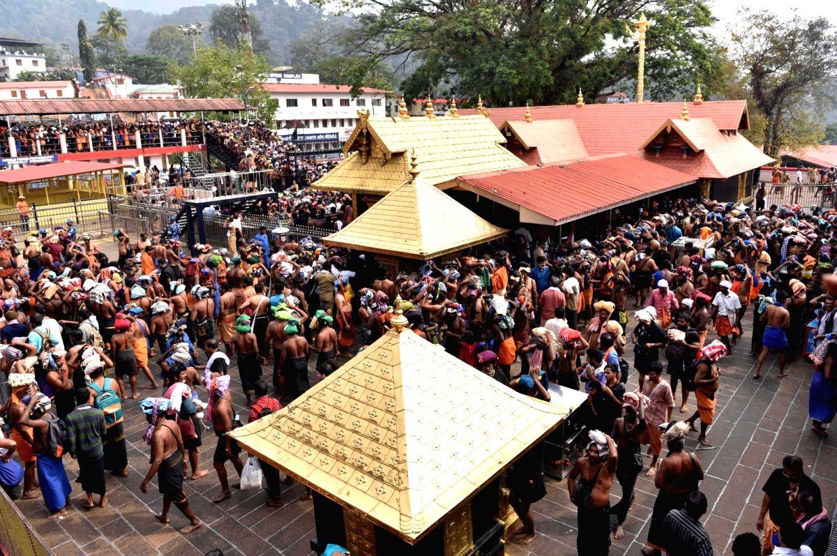 Sabarimala: Devotees throng the Lord Ayyappa temple at Sabarimala in Pathanamthitta district of Kerala on Nov 24, 2017.