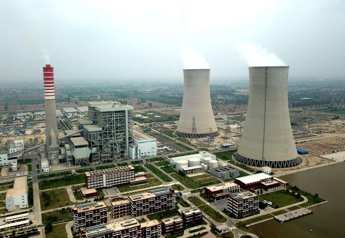 SAHIWAL (PAKISTAN), Aug. 11, 2019 (Xinhua) -- The aerial photo taken on Aug. 6, 2019 shows the Sahiwal Coal Power plant in Sahiwal, Punjab Province, Pakistan. Power plants under the China-Pakistan Economic Corridor (CPEC) have improved livelihood of
