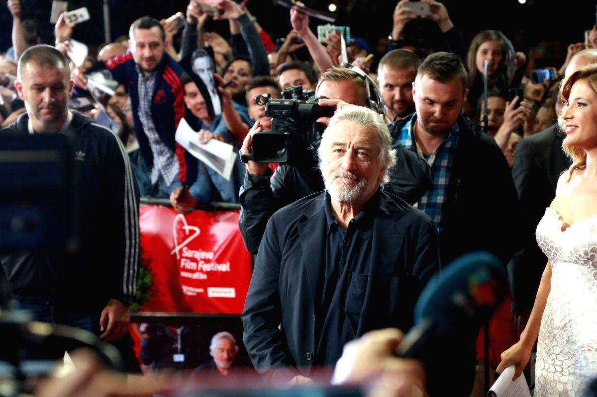 SARAJEVO, Aug. 13, 2016 - U.S. actor Robert De Niro (C) arrives for the opening ceremony of the 22nd Sarajevo Film Festival held in Sarajevo, Bosnia and Herzegovina, Aug. 12, 2016. A total of 222 ...