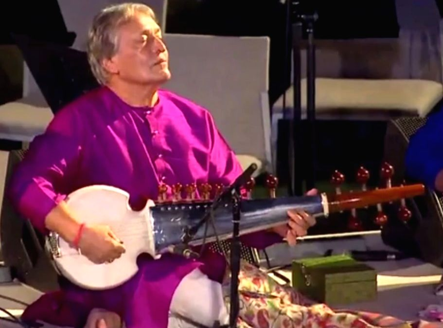 :Sarod Maestro Amjad Ali Khan performs at the United Nations Day concert at the UN General Assembly in New York on Oct. 24, 2018. .
