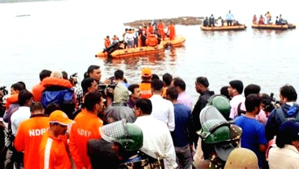 Search and rescue operations underway after a boat with about 60 tourists capsized in Godavari river in Andhra Pradesh's East Godavari district. At least seven persons were killed and many others were missing.