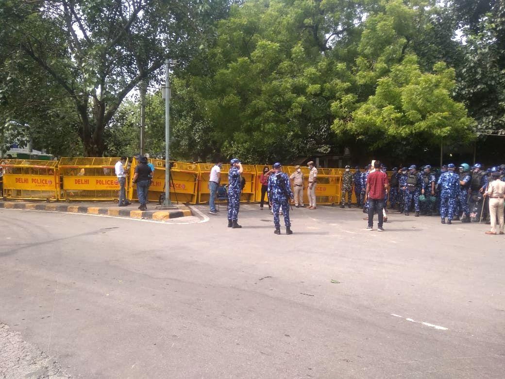 Security at Jantar-Mantar