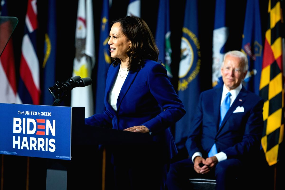 Senator Kamala Harris and former Vice President Joe Biden