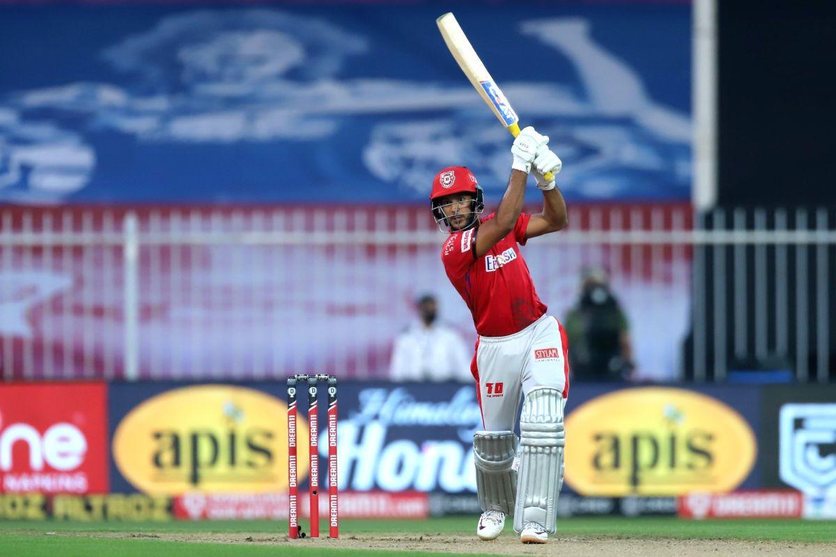 Sharjah: Mayank Agarwal of Kings XI Punjab plays a shot during match 9 of season 13 of the Indian Premier League (IPL) between Rajasthan Royals and Kings XI Punjab held at the Sharjah Cricket Stadium, Sharjah in the United Arab Emirates on the 27th S