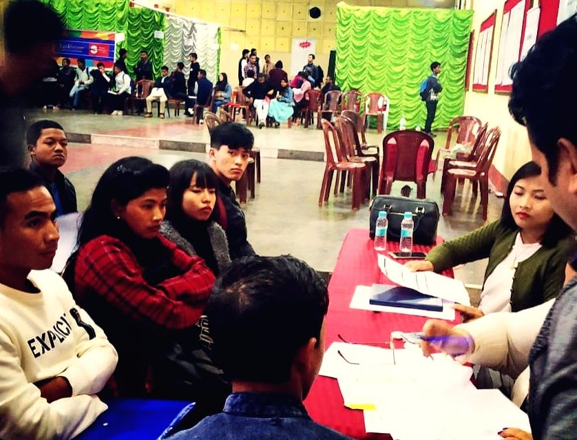 Shillong: The second edition of a two-day walk-in job fair kicked off at the Don Bosco hall in Shillong on Nov 11, 2019. The job fair is being organised by Meghalaya State Skill Development Society (MSSDS) assisted by the Asian Development Bank (ADB)