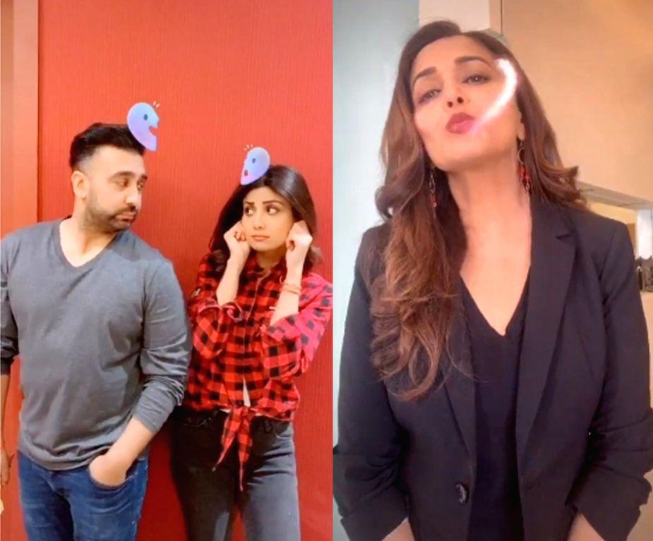 Shilpa Shetty, Madhuri celebrate Valentine's Day in Gen Z way