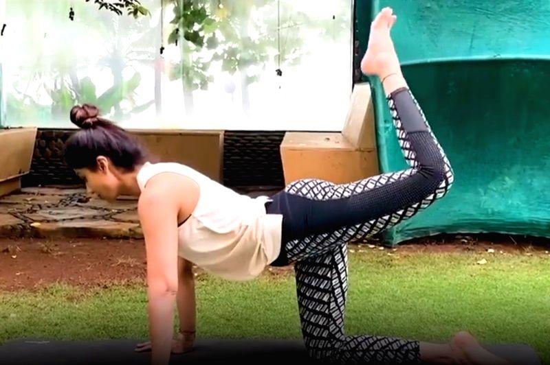 Shilpa Shetty's yoga tips to beat lockdown muscle stress.