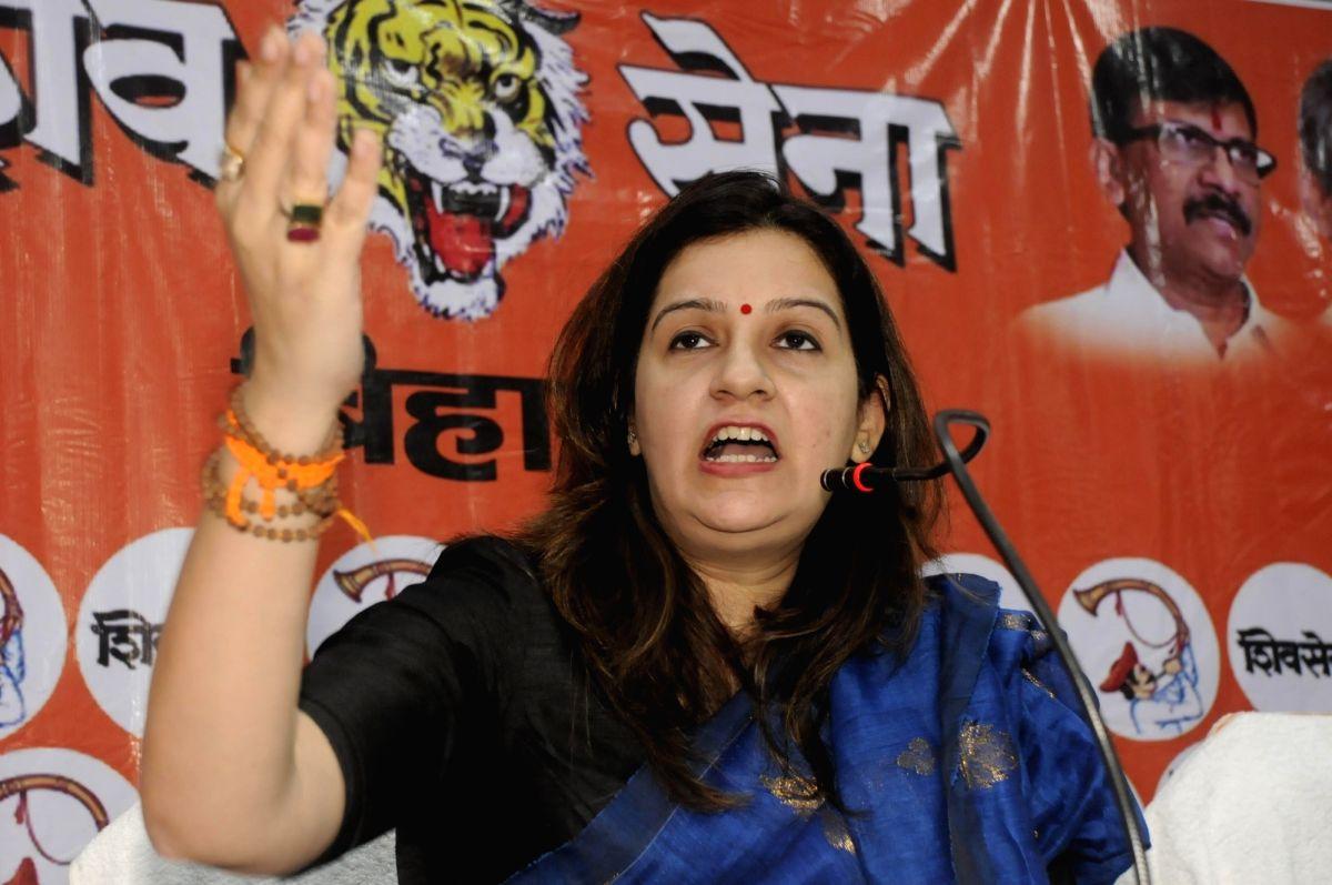 Shiv Sena leader Priyanka Chaturvedi.