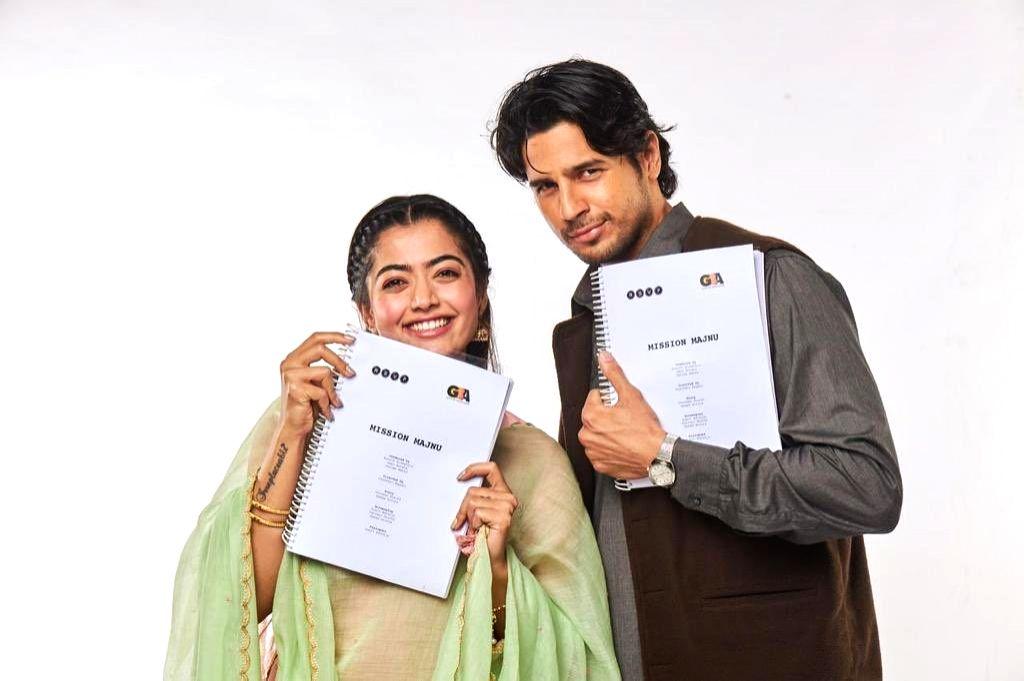 Sidharth Malhotra and Rashmika Mandanna begin 'Mission Majnu' shoot.