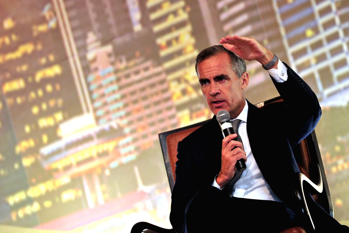 Singapore: Bank of England Governor Mark Carney speaks at the Monetary Authority of Singapore (MAS) Lecture in Singapore on Nov. 17, 2014. (Xinhua/Then Chih Wey/IANS)