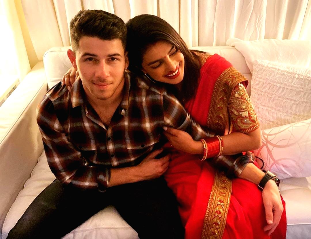 Singer Nick Jonas,  and wife Priyanka Chopra Jonas,