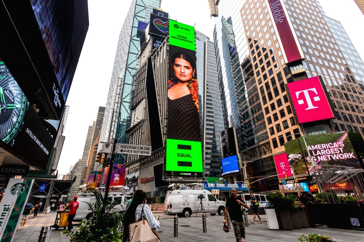Sona Mohapatra is the first Indian independent musician to make it to the Times Square billboard