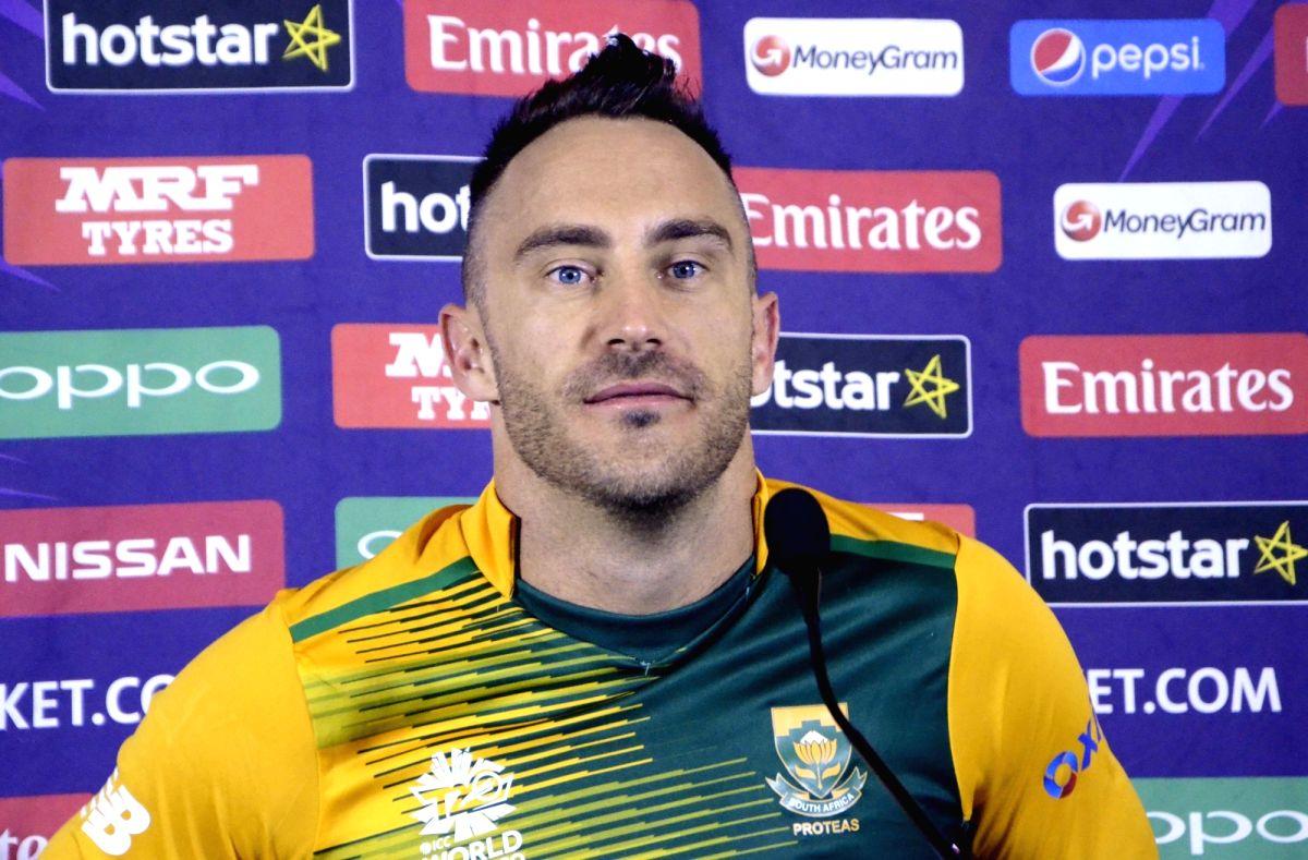 South African captain Faf du Plessis