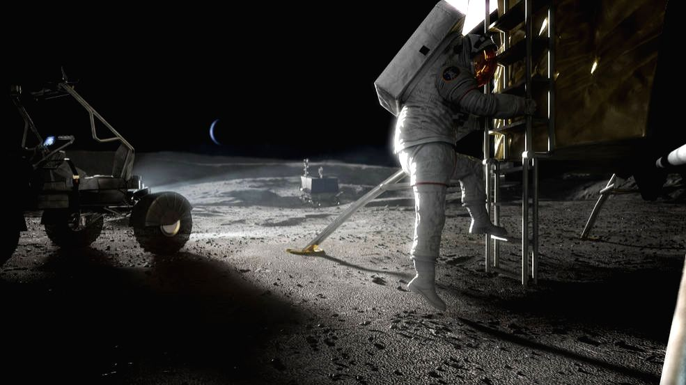SpaceX, Blue Origin to make Moon lander design for NASA (Photo:NASA)