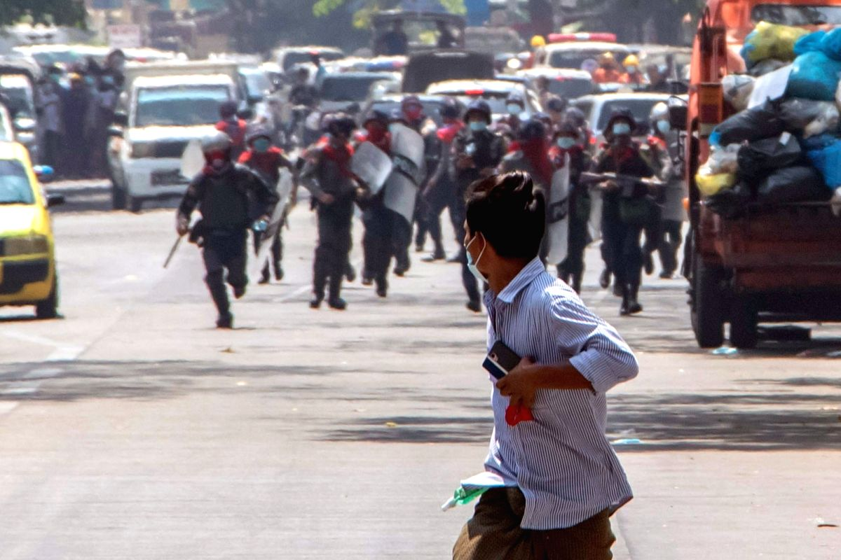 Myanmar forces detaining protesters' families