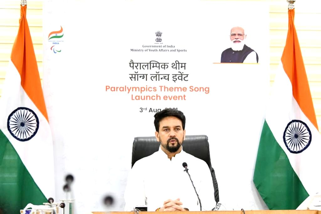 Sports Minister Anurag Thakur launches theme song for Indian Paralympic contingent