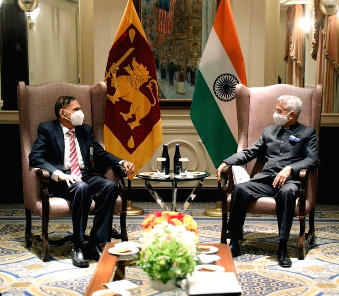 Sri Lankan Foreign Minister G. L. Peiris meets Indian counterpart S. Jaishankar on the sidelines of the UN General Assembly in New York.