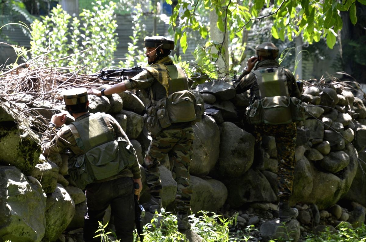 Srinagar: 3 terrorists killed in Kashmir encounter, another militant has been killed taking toll to three in Shokbaba forest area of North Kashmir's Bandipora district in Srinagar, on Saturday, July 24, 2021.