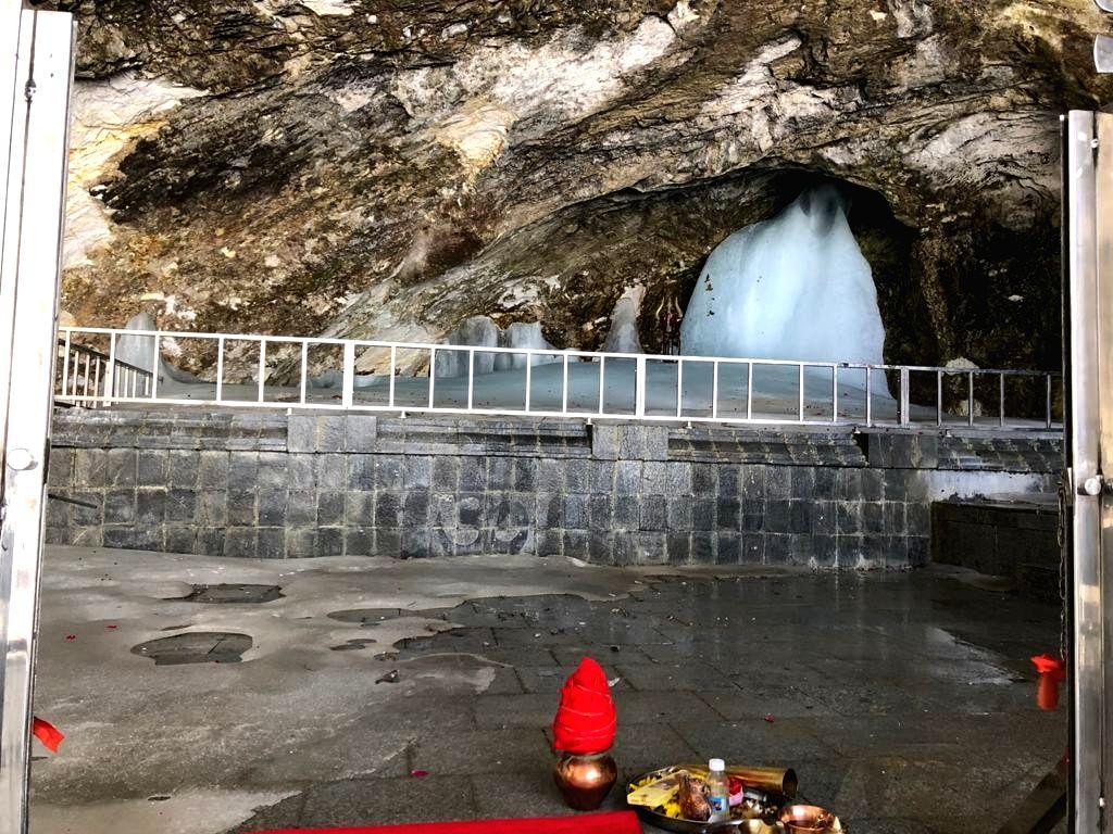 Srinagar: Amarnath Cave Temple.(Photo: IANS/Nissar Malik)