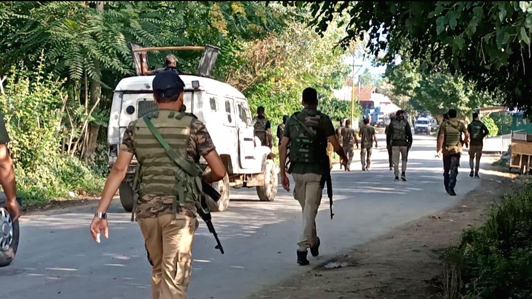 Srinagar: Top Lashkar-e-Taiba Commander among two militants were killed in an encounter at Warpora area of Sopore in North Kashmir's Baramulla district on Friday On Friday, 23 july, 2021.(Photo:Nisar Malik/IANS)