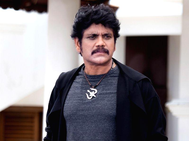 Stills from Actor Akkineni Nagarjuna in Hyderabad.