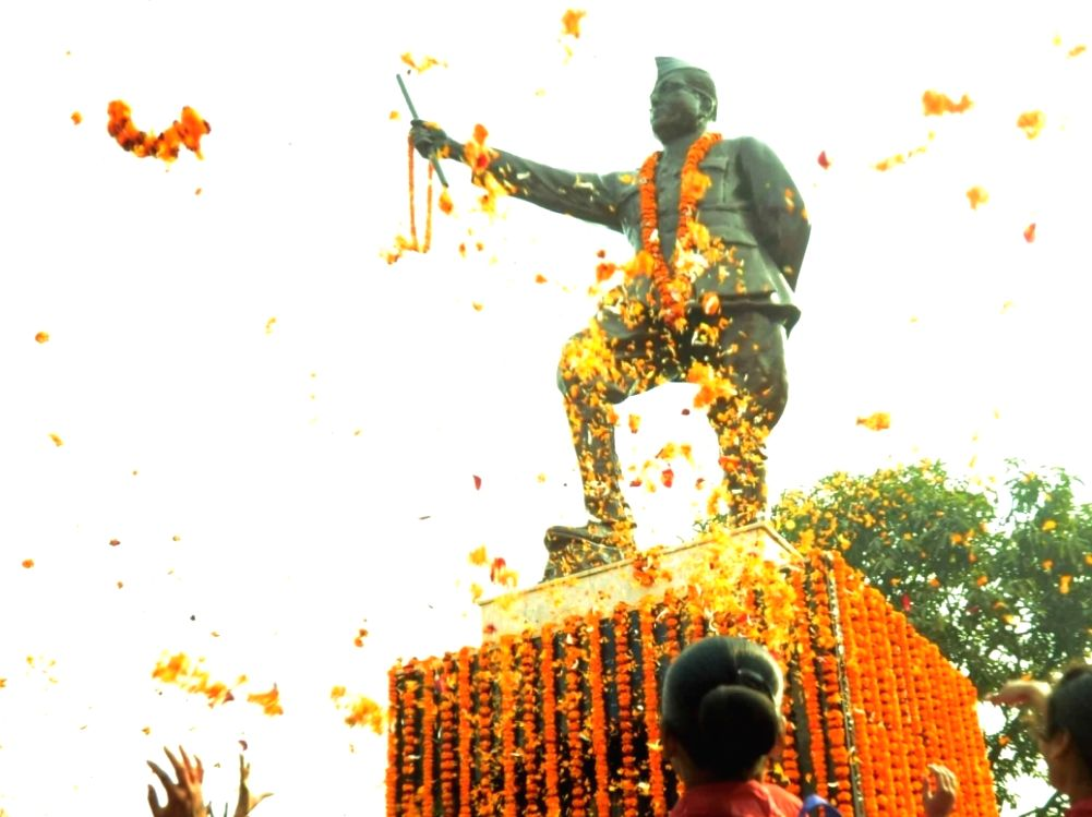 Students pay tribute to Netaji Subhash Chandra Bose on his birth anniversary