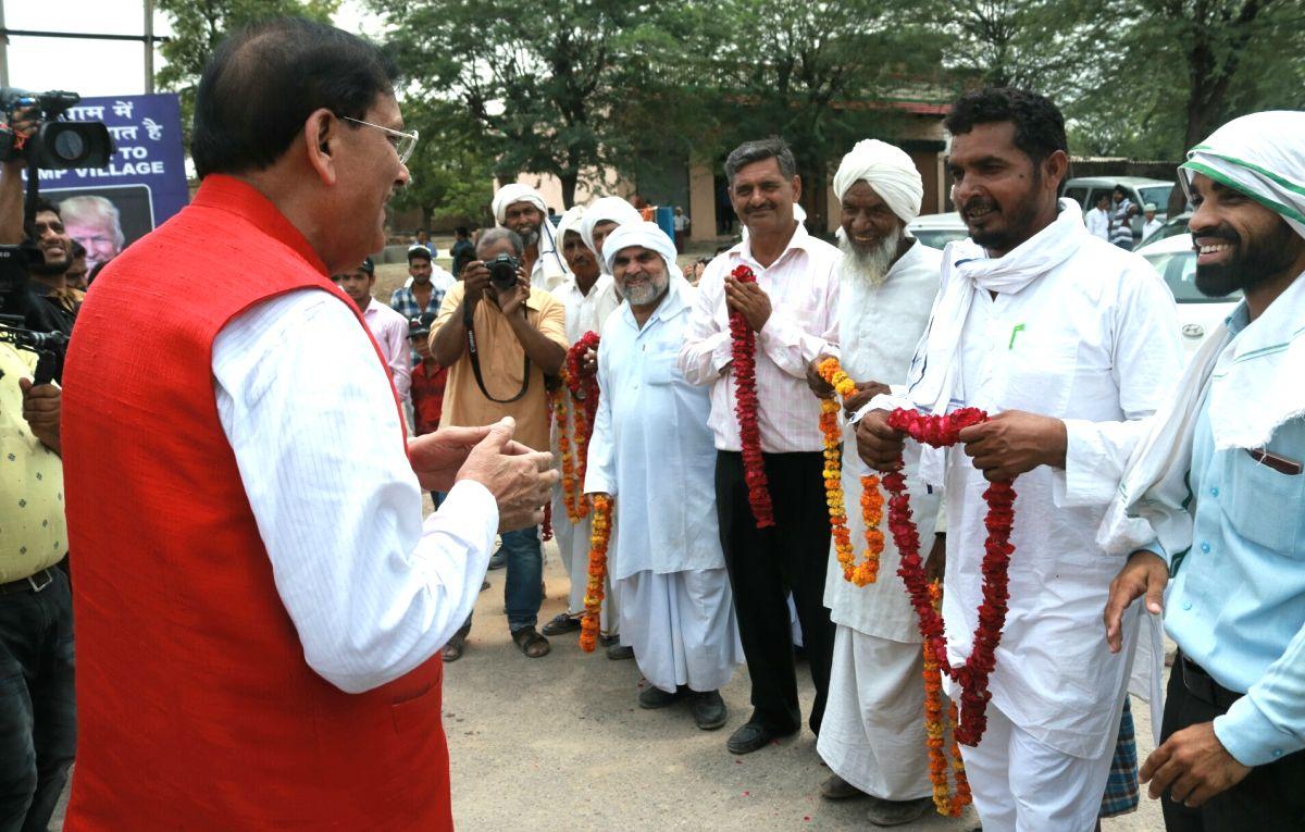 Nuh (Haryana): Trump Sulabh Village - inauguration - Bindeshwar Pathak