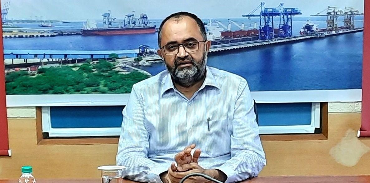 Sunil Paliwal, Chairman-cum-Managing Director, Kamarajar Port.(photo:@KamarajarPort twitter)