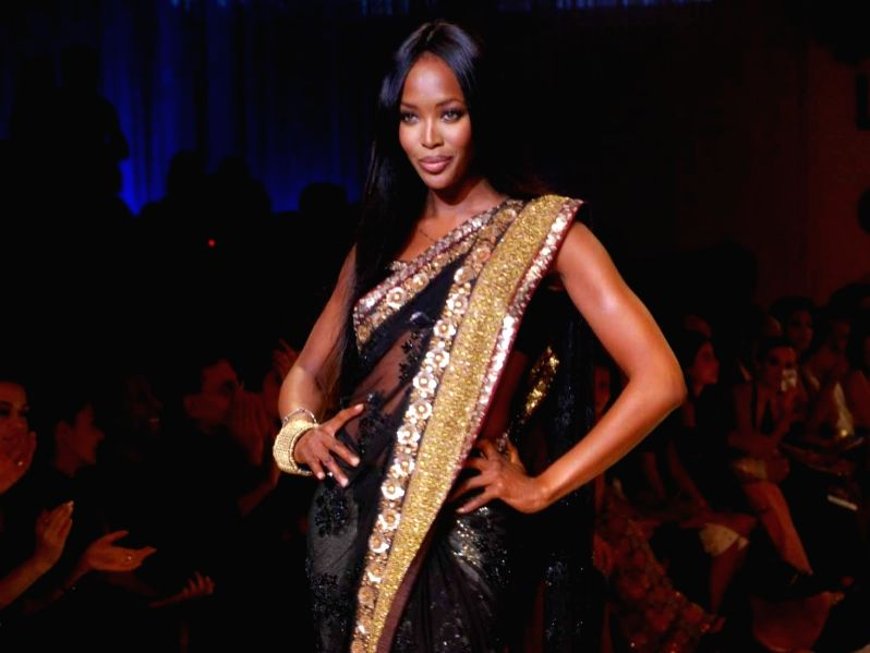 Supermodel Naomi Campbell on the ramp