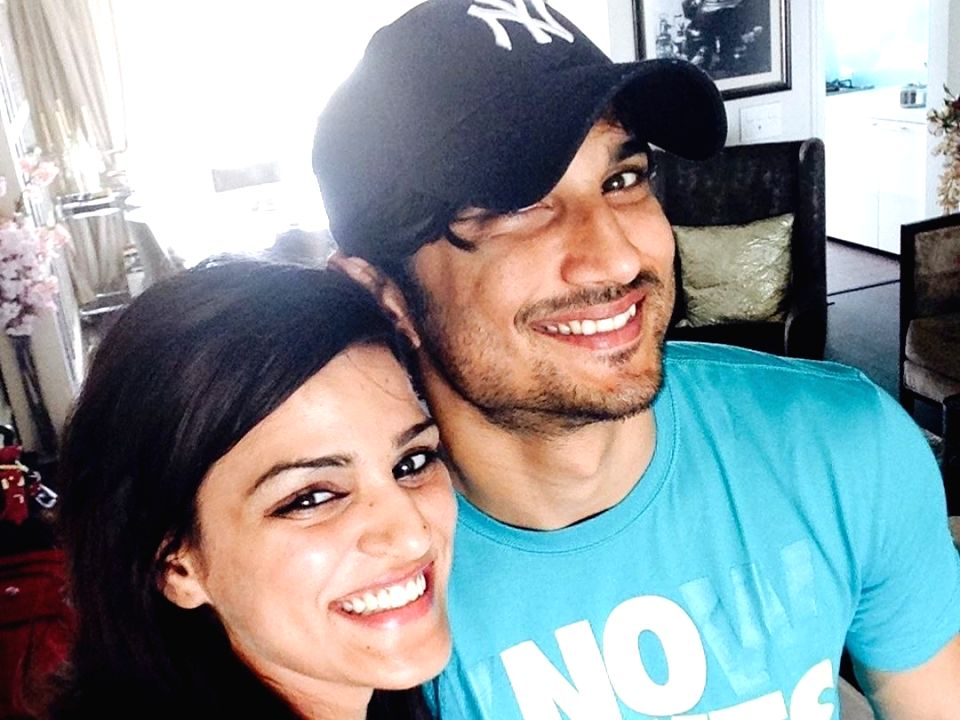 Sushant Singh Rajput and sister.