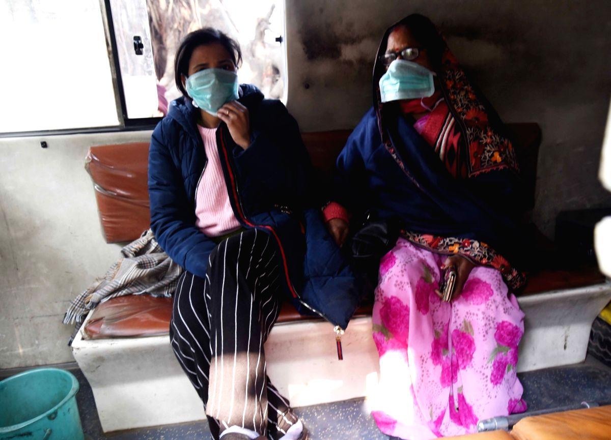 Suspected Chinese coronavirus patient in Kolkata hospital.