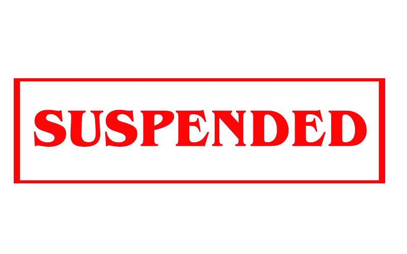 Suspended.