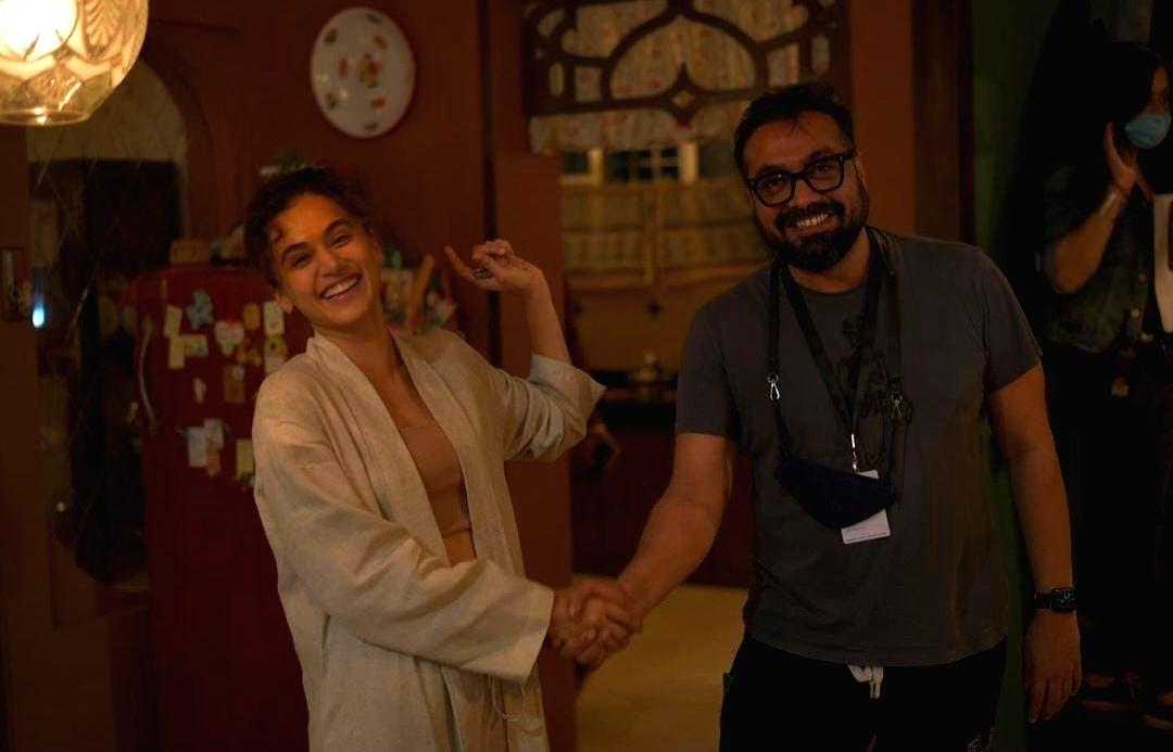 Taapsee Pannu wraps up 'Dobaaraa' shoot.