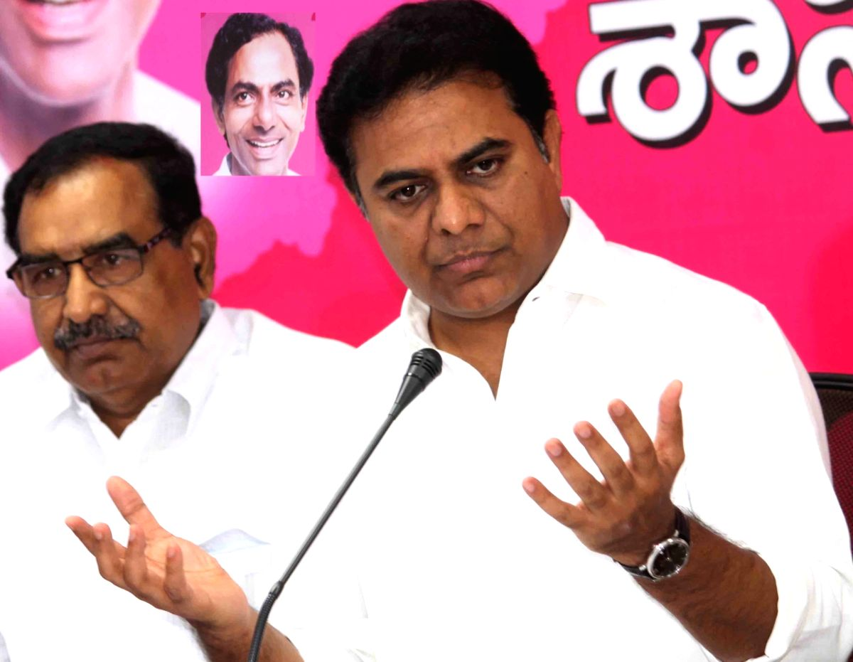 Telangana's Information Technology Minister KT Rama Rao addresses a press conference in Hyderabad on March 14, 2017.