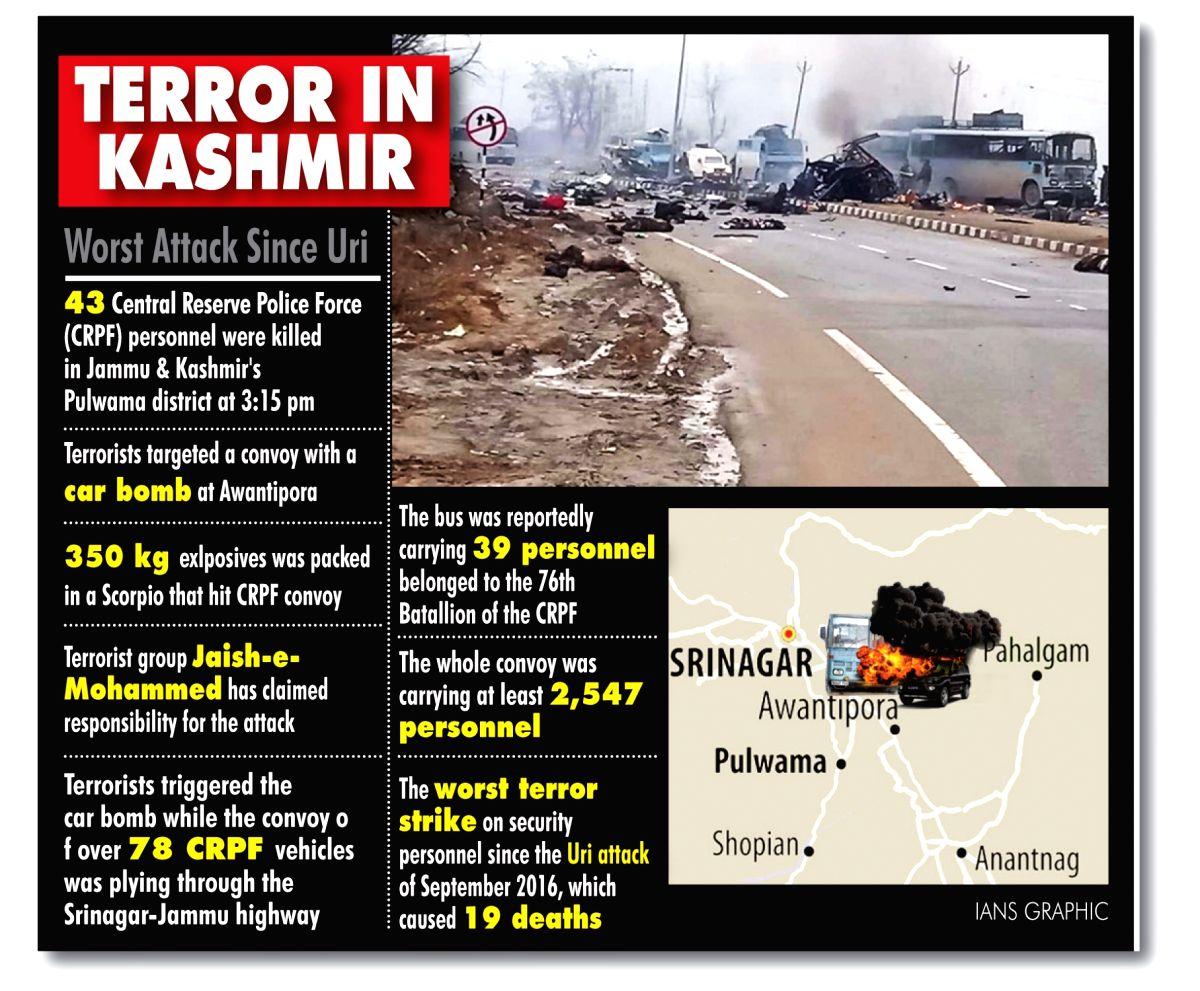 Terror in Kashmir. (IANS Infographics)
