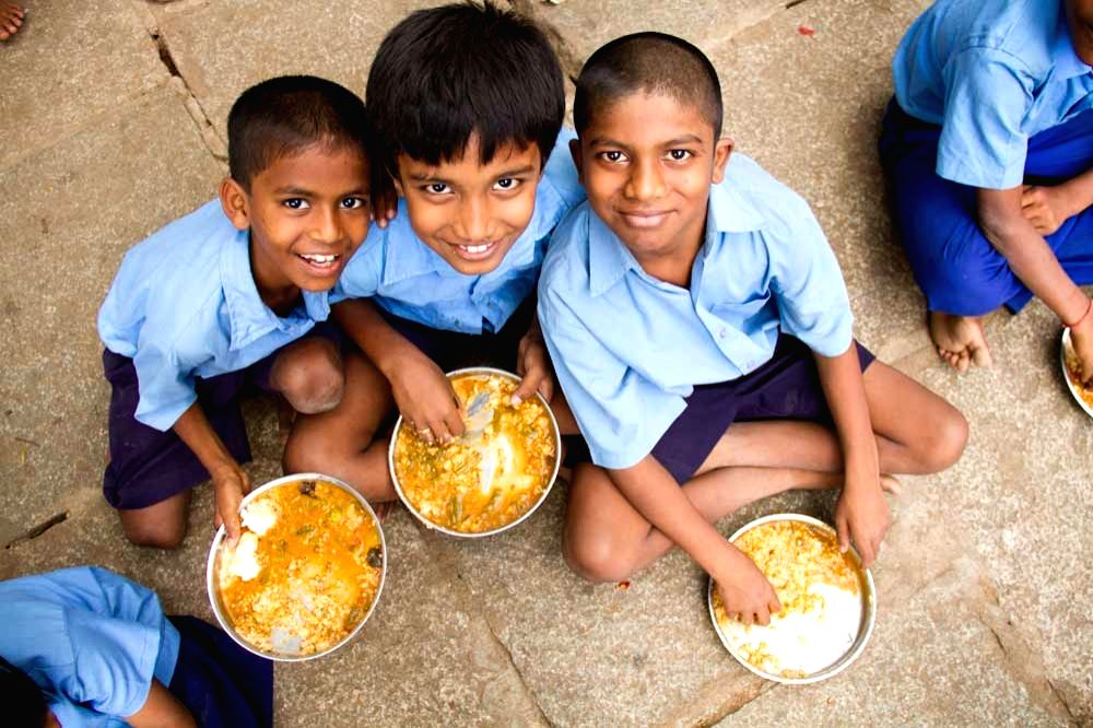 The Akshay Patra Foundation feeds 19 lakh students every school day.