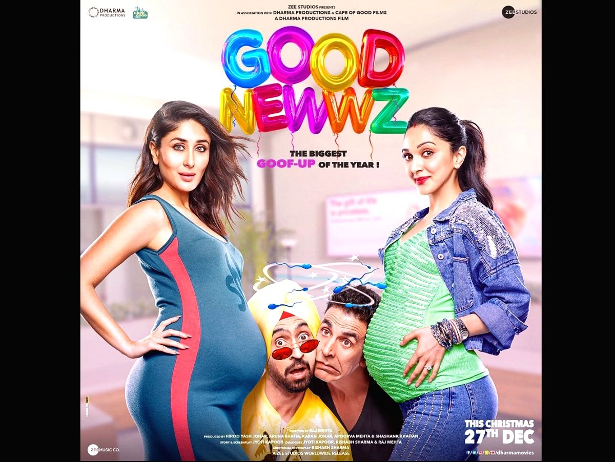 The official poster of the most awaited film 'Good Newwz'