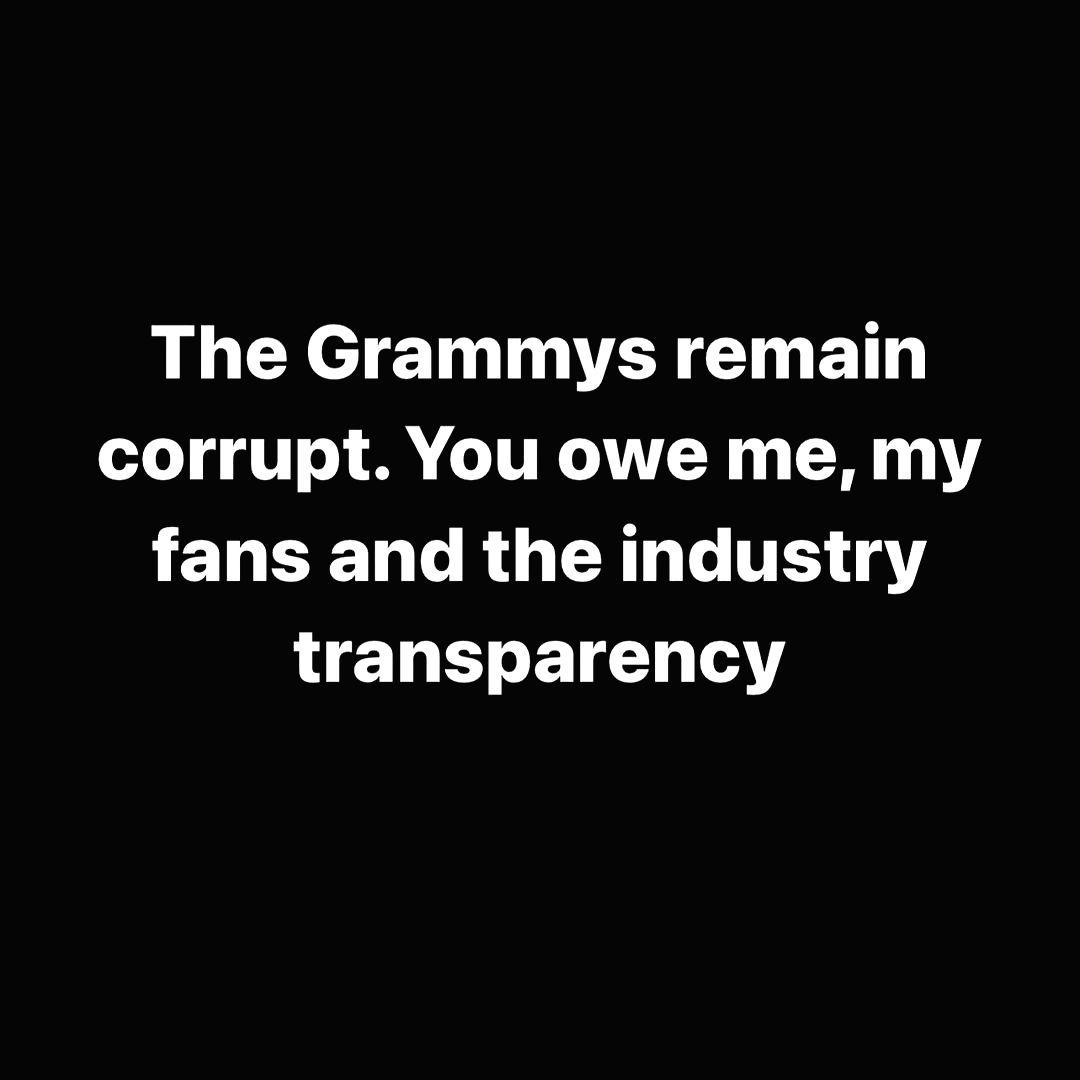 The Weeknd calls Grammys 'corrupt'.